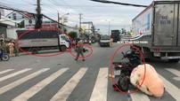Video xe máy vượt đèn đỏ, gây tai nạn liên hoàn khiến một bé gái bị thương nặng ở Bình Dương