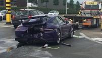 Siêu xe Porsche 911 GT3 màu tím nổi tiếng trên mạng xã hội gặp tai nạn nghiêm trọng