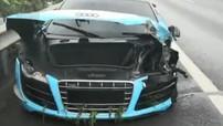 Lái siêu xe Audi R8 gây tai nạn trên cao tốc, thiếu gia 23 tuổi ngó lơ việc khắc phục hậu quả