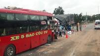 Bình Thuận: Xe khách đối đầu ô tô tải trong đêm, 2 tài xế tử vong tại chỗ