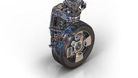 Bánh xe ô tô tân tiến này có thể tự lái và quay 360 độ tự do