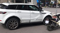 Hà Nội: Sau tai nạn với xe máy, Range Rover Evoque móp hông xe và bung nẹp sườn