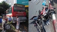 Xe khách nổ lốp, tông hàng loạt ô tô và xe máy trên cầu Bãi Cháy khiến 5 người thương vong