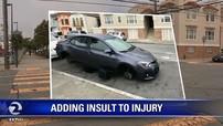 Họa vô đơn chí: Cặp đôi phải nhận vé phạt đỗ xe sau khi bị ăn trộm cả 4 bánh xe