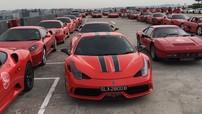 Kỷ niệm 54 năm Quốc khánh Singapore, hơn 54 siêu xe Ferrari từ cổ chí kim tụ tập cùng nhau