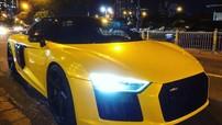 """Sau khi được Cường """"Đô-la"""" bán lại, siêu xe Audi R8 V10 PLus diện áo vàng tươi rói"""
