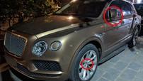 """Bentley Bentayga hơn 23 tỷ đồng bị kẻ gian """"vặt gương"""" và logo đã được lắp đầy đủ phụ kiện"""