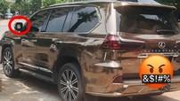 """Hà Nội: """"Chuyên cơ mặt đất"""" Lexus LX570 nổi bật với bộ áo crôm cũng bị kẻ gian vặt mặt gương"""