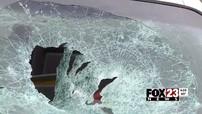 Đáng khen cậu bé 12 tuổi nhanh trí đập vỡ kính chắn gió để giải cứu em bé bị khóa bên trong xe nóng