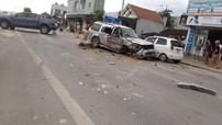Thanh Hóa: Xe bán tải gây tai nạn liên hoàn khiến SUV 7 chỗ rụng bánh, 2 người bị thương