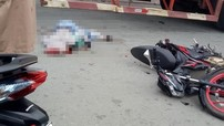 Sài Gòn: Xe container ôm cua, va chạm xe côn tay Suzuki Satria F150, một phụ nữ tử vong