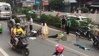 Hà Nội: Xe máy va chạm với xe ba gác tại Hầm Kim Liên, người điều khiển xe máy bị thương nặng