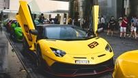 Dàn siêu xe Lamborghini của nhà giàu Malaysia kéo sang Singapore xem đua xe F1