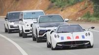 """Pagani Huayra cùng bộ 3 SUV """"khủng"""" của Minh """"Nhựa"""" di chuyển trên cao tốc La Sơn - Túy Loan hơn 13.000 tỷ đồng"""