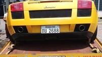 Siêu xe Lamborghini Gallardo vàng rực mang biển Lào xuất hiện tại Việt Nam