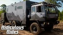 """Khâm phục cặp đôi biến hóa một chiếc xe tải quân sự thành """"căn nhà di động"""""""