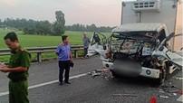 2 xe tải tông nhau trên cao tốc Tp. Hồ Chí Minh - Trung Lương, 2 bố con tử vong