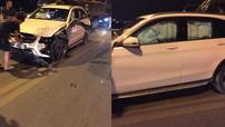 Gây tai nạn liên hoàn trên cầu Vĩnh Tuy, Mercedes-Benz GLC bung túi khí kín cửa sổ