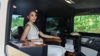 Thử tài quan sát: Hoa hậu Trần Tiểu Vy đang ngồi trong khoang lái mẫu xe nào?