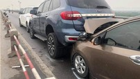 Video: 7 ô tô tông xe dây chuyền trên cầu Thanh Trì