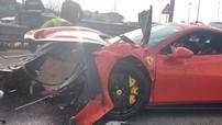 """Siêu xe Ferrari 488 Pista """"tử nạn"""" ở Ý khiến không ít người xót xa"""