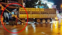 Lạng Sơn: Xe tải mất lái lao vào quán ốc bên đường