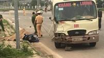 Video: Xe máy chạy lấn làn đối đầu ô tô chở công nhân tại Vĩnh Phúc, nam thanh niên tử vong
