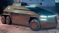 Tesla Cybertruck trông sẽ như thế này nếu biến thành xe quân sự
