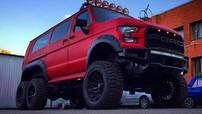 Ford RaptorBus 6x6 - Chiếc xe van 6 bánh phong cách Raptor điên rồ tới từ nước Nga