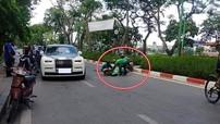 Thực hư chuyện tài xế grab bike va chạm với xe Rolls-Royce Phantom VIII rồi ngất xỉu trên đường phố Hà Nội