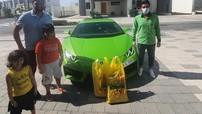 Chủ siêu thị Pakistan tại Dubai lái siêu xe Lamborghini Huracan mui trần đi giao xoài