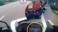 """Lộ video """"phượt thủ"""" chạy mô tô tốc độ cao trước khi tông vào xe khách dẫn đến tử vong tại chỗ"""