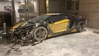 """Đại gia đau xót khi siêu xe Lamborghini Aventador 'hoá vàng"""" lúc 3 giờ sáng"""