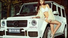 """Chân dài nóng bỏng thả dáng bên Mercedes-Benz G63 AMG """"Bạch Tuyết"""""""