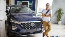 Hyundai Santa Fe 2019 được trưng bày tại Việt Nam nhưng không phải để bán