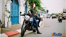 Thiếu nữ Việt khoe vẻ cổ điển cùng Ducati Scrambler Cafe Racer qua nước ảnh film