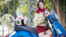 Lãng mạn đầu đông cùng người đẹp Hà thành, cúc họa my và Vespa