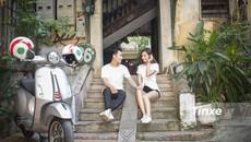 Cặp đôi xuống phố cùng Vespa Primavera ABS