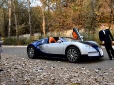 Đại gia nhí trên siêu xe Bugatti Veyron cỡ nhỏ