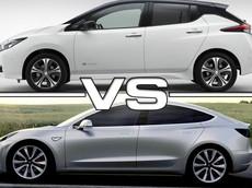 Đặt lên bàn cân Tesla Model 3 và Nissan Leaf 2018