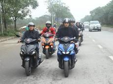 Hoành tráng với lễ rước dâu được hộ tống bởi dàn xe Yamaha NVX