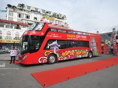 Xe buýt 2 tầng chính thức khai trương tuyến thăm quan phố cổ Hà Nội