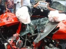 Tránh xe tải, giám đốc tập đoàn Ấn Độ tử vong trên siêu xe Ferrari