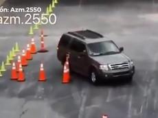 Ấn tượng với kỹ thuật của tài xế thi lấy bằng lái xe hơi
