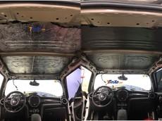 Sau vụ việc trần xe ốp bằng bìa các-tông, chiếc Mini Cooper S đã được chủ nhân độ lại