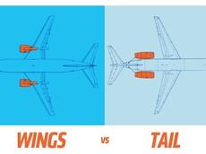 Đây là lí do tại sao máy bay có động cơ đặt ở cánh hoặc ở phía đuôi