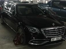 Hà Nội: Đỗ sai quy định, xe siêu sang Mercedes-Maybach S450 bị khoá bánh