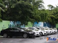 Đám cưới Á hậu Dương Tú Anh hoành tráng với dàn xe rước dâu Audi