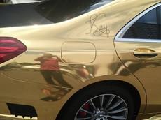 Xe sang Mercedes-Benz S-Class biển số Hà Nội thay đổi màu sơn theo phong cách Dubai