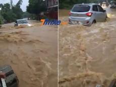 Video Hyundai Grand i10 lội nước như tàu ngầm ở Cao Bằng gây xôn xao mạng xã hội